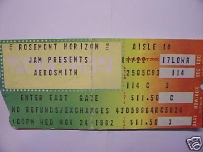 Ticket stub